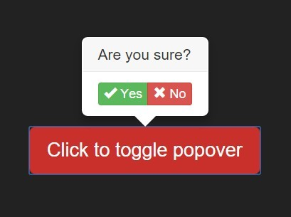 jQuery Plugin For Bootstrap Styled Confirmation Popover - BSConfirmation