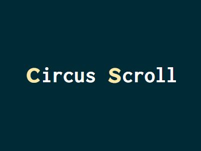 jQuery Plugin For CSS & Easing Based Scroll Animations - circus-scroll-tween