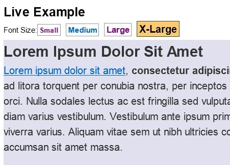 jQuery Plugin For Changing Font Size Of Web Page - Text Resizer