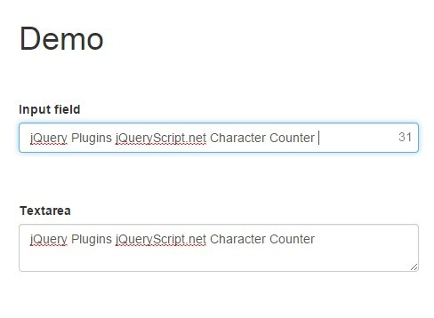 jQuery Plugin For Character Counter In Text Fields