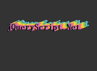jQuery Plugin For Colorful 3D Text Shadow - funText