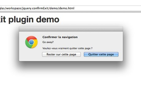 jQuery Plugin For Confirmation on Leaving the Current Page - confirmExit