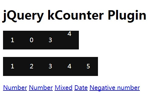 jQuery Plugin For Creating An Animated Counter - kCounter