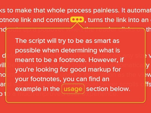 jQuery Plugin For Creating Exceptional Footnotes - bigfoot