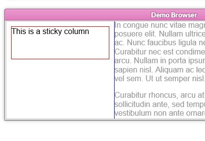 jQuery Plugin For Creating Sticky Html Elements - Sticky Kit