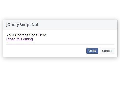 jQuery Plugin For Facebook Style Dialog Box - FBDialog