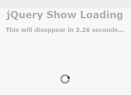 jQuery Plugin For Custom Loading Overlay & Indicator - Show Loading