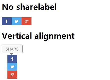 jQuery Plugin For Custom Social Share Buttons - Social Buttons