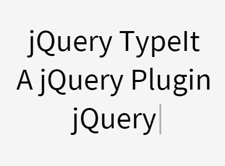 jQuery Plugin For Customizable Terminal Text Effect - TypeIt