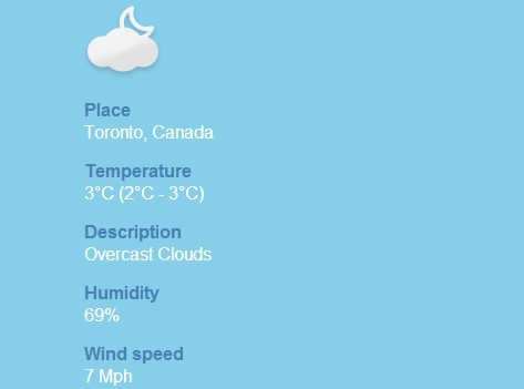 jQuery Plugin For Displaying Real Time Weather Conditions - Open Weather