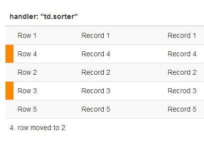 jQuery Plugin For Drag'n'Drop Sortable Table - RowSorter.js