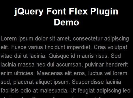 jQuery Plugin For Dynamic Font Sizes - Font Flex