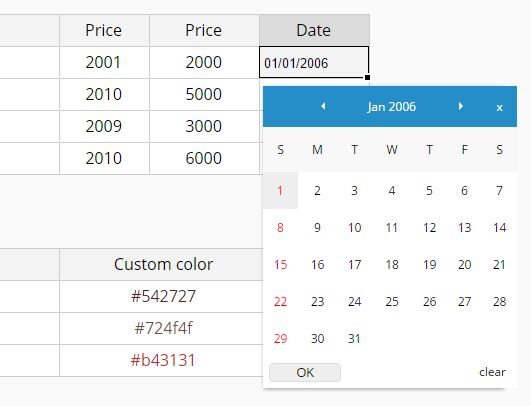 Dynamic Spreadsheet-like Data Grid - jExcel | Free jQuery Plugins