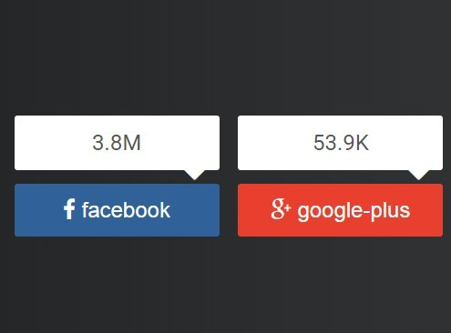 jQuery Plugin For Easily Configurable Social Buttons - socialShare.js