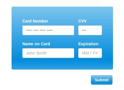 jQuery Plugin For Easy Credit Card Inputs - Creditly.js