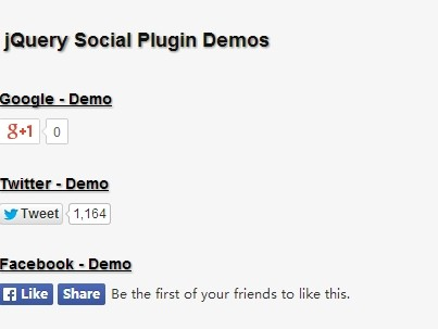 jQuery Plugin For Easy Social Buttons Integration - Social