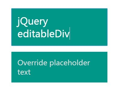 jQuery Plugin For Editable DIV Elements - editableDiv