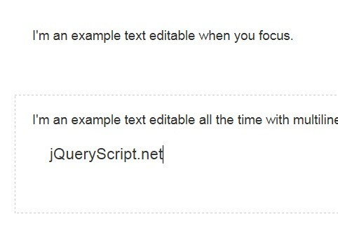 jQuery Plugin For Editable Html Elements - trocar.js