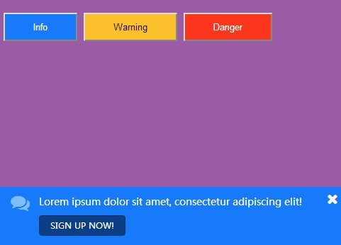 jQuery Plugin For Fixed Notification Bars - tappifications