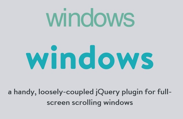 jQuery Plugin For Fullscreen Scrolling Pages - windows