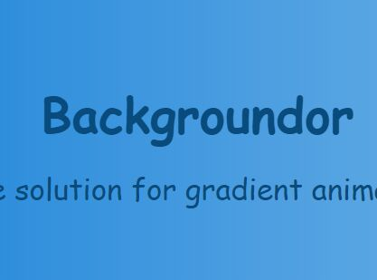 jQuery Plugin For Gradient Background With Transitions - Backgroundor