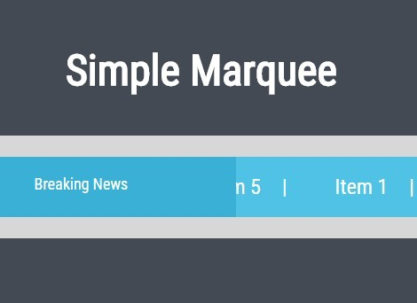 jQuery Plugin For Horizontal Text Scrolling - Simple Marquee
