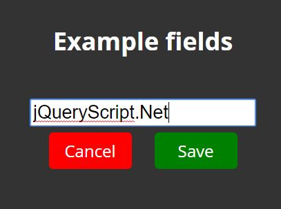 jQuery Plugin For Inline Editing Of Data On The Webpage - InlineEdit.js