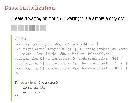 jQuery Plugin For Loading Animations - Waiting