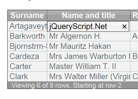 jQuery Plugin For Manipulating Tabulated Data - Zentable