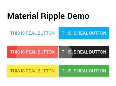 jQuery Plugin For Material Design Ripple Click Effect - Material Ripple
