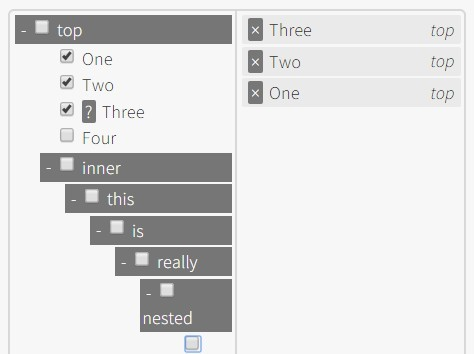 jQuery Plugin For Multi-Selectable Tree Structure - Tree Multiselect