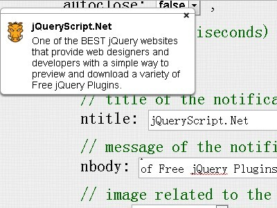 jQuery Plugin For Neat Web Notification - WNF