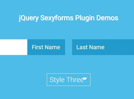 jQuery Plugin For Nice CSS3 Animated Text Fields - Sexyforms