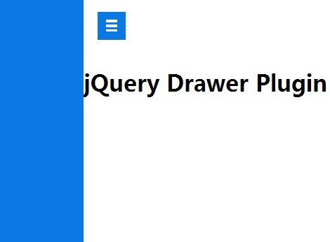 jQuery Plugin For Off Screen Sliding Menu with CSS3 Transitions - Drawer