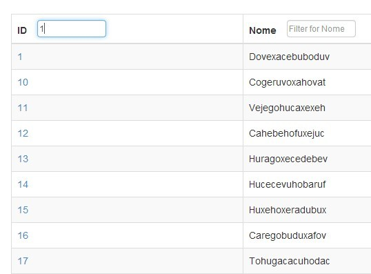jQuery Plugin For On Screen Table Filter - Filter On The Table