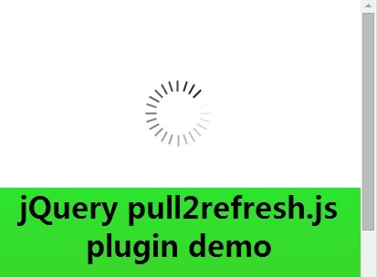 jQuery Plugin For Pull To Refresh Web Page - pull2refresh.js