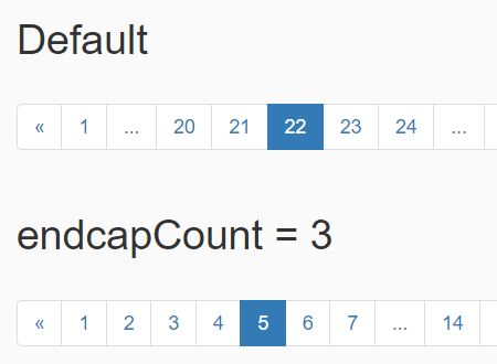 jQuery Plugin For Responsive Bootstrap Pagination Component