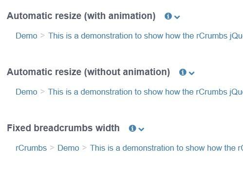 jQuery Plugin For Responsive Breadcrumbs - rCrumbs