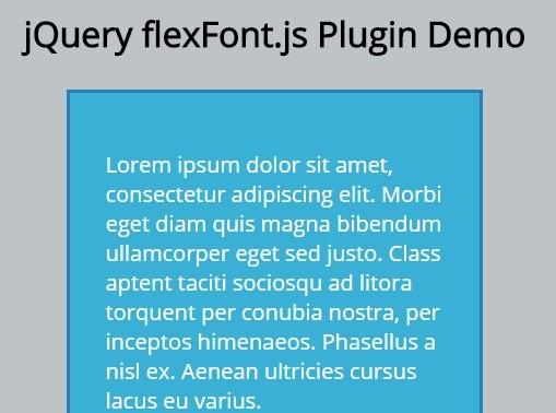 jQuery Plugin For Responsive & Dynamic Text Size - flexFont.js