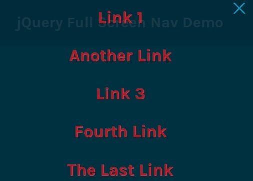 jQuery Plugin For Responsive Fullscreen Navigation Menu - Full Screen Nav