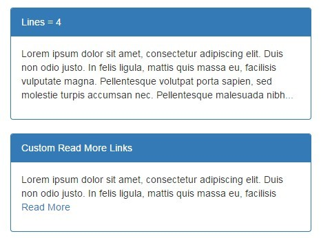 jQuery Plugin For Responsive Multi Line Text Truncating - fewlines