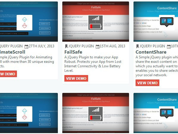 jQuery Plugin For Responsive Project Showcase - AppStore.js