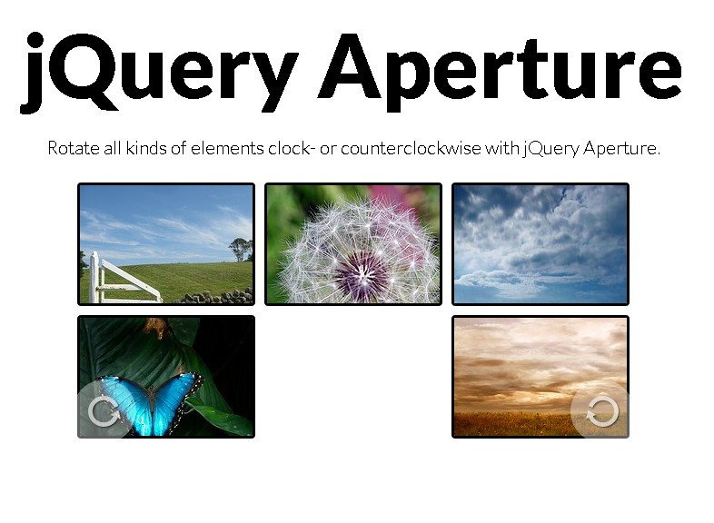 jQuery Plugin For Rotating Elements Clockwise or Counterclockwise - Aperture