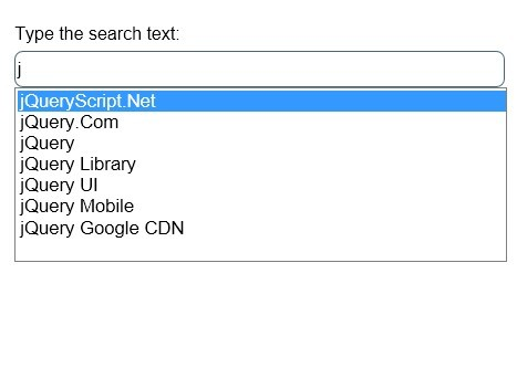 jQuery Plugin For Searchable Select List Box - Searchit