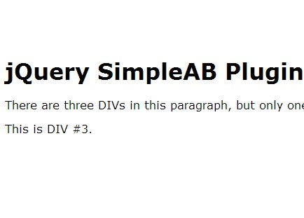 jQuery Plugin For Simple A/B Testing On Page - SimpleAB