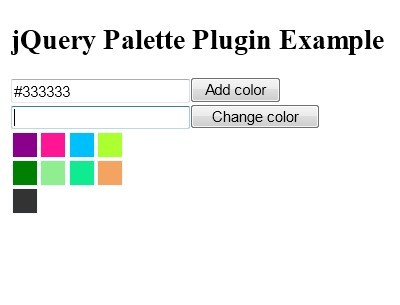 jQuery Plugin For Simple Color Palette Widget - palette