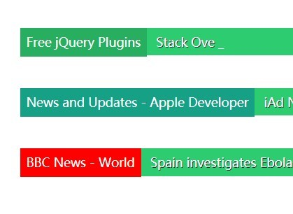 jQuery Plugin For Simple News Feed Ticker - Breaking News