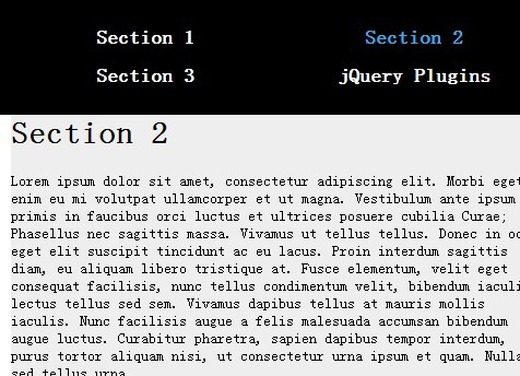 jQuery Plugin For Single Page Scroll To Navigation