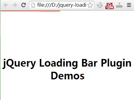 jQuery Plugin For Slim Top Ajax Loading Bar
