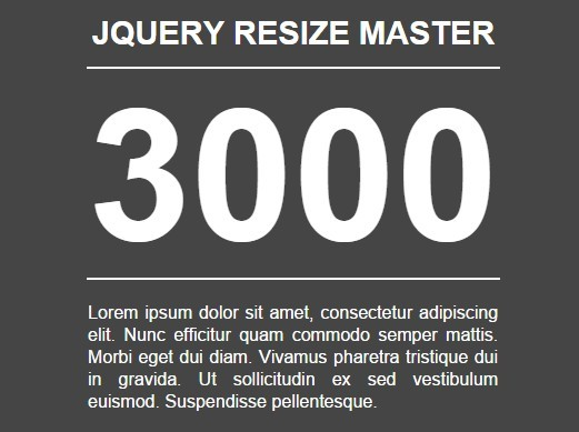 jQuery Plugin For Smart Text Resizing - resizeMaster3000
